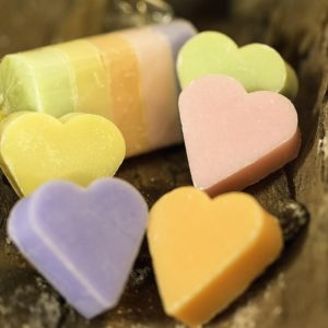 Pack of 5 Marseille Soaps Hearts 25 g
