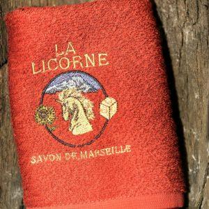 Serviette éponge Rouge La Licorne