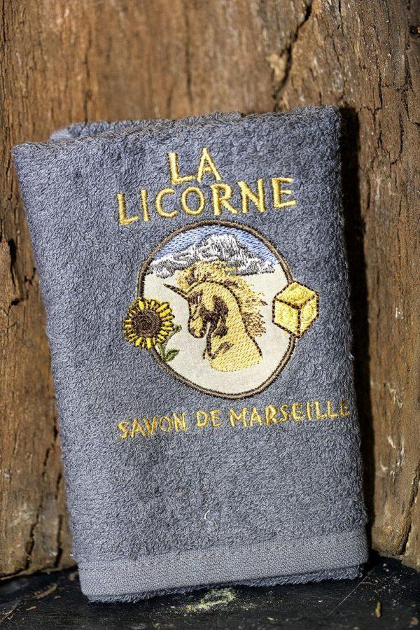 La licorne plaque serviette grise