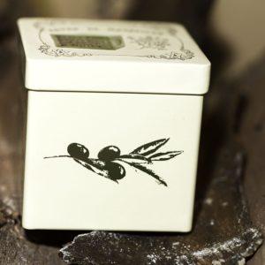 Boîte Cube Métal Beige Olives 300 gr
