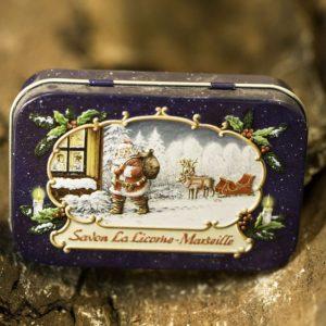 Boîte Bleu Métal Père Noël 100 g