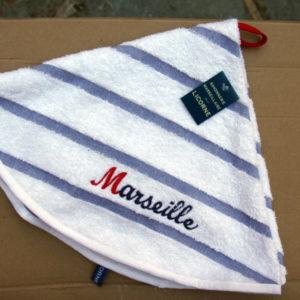 Torchon Rond Marin Marseille 70 cm