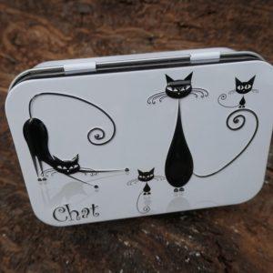 Boîte Métal chat blanc 100 g
