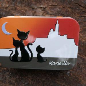 Metal box orange cat 100 g