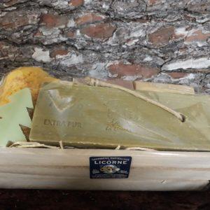 Coffret bois Plaque olive, Eponge naturelle
